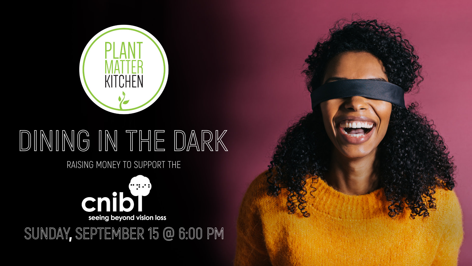 Dining in the Dark - Event Banner